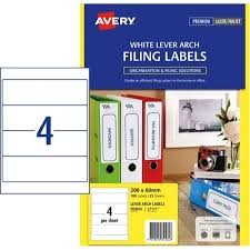 avery sheet labels avery lever arch filing labels l7171 4 per sheet
