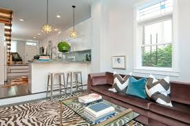 zebra area rug. Off White And Brown Zebra Print Area Rug In Living Room.