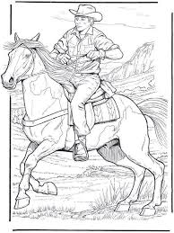 Cowboy To Color Coloring Pages Horse Coloring Pages Coloring