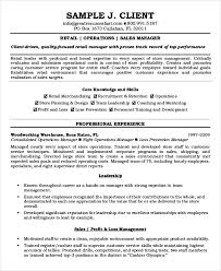 Manager Resume Sample Manager Resume Sample Templates 43 Free Word Pdf Documents