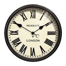 large putney wall clock black amara