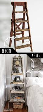 Step Ladder Side Table DIY - 16 Best DIY Furniture Projects Revealed   Update Your Home on a Budget!