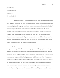 essay format middle school