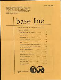 "ISSN 0272-8532 ATIENTION SERIALS LIBRARIANS: PLEASE NOTE: The ONLY issues  of base line available are.t""(l) • .?(l). &"