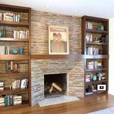 fireplace with bookshelves on each side ideas home decoration surrounds idea shelf