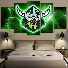 12 on canberra raiders wall art with 5pcs canberra raiders oakland raiders canvas print painting wall art