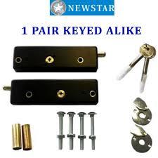 newstar garage door bolts locks c w hardened steel rollers for extra security