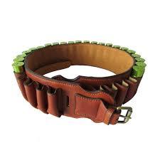 tourbon hunting accessories durable vintage brown leather shot cartridge bullet belt 30 round 12gauge hot s