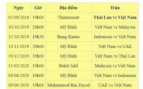 Lịch thi đấu futsal việt nam: Lịch Thi Ä'ấu Của Tuyển Việt Nam Tại Vong Loại World Cup 2022 Bao Dan Sinh