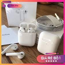 Tai nghe bluetooth không dây nhét tai airpods 2 chống ồn dùng cho iphone và  sam sung pin trâu giá cạnh tranh