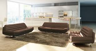 Brown leather sofa sets Sectional Avetex Furniture Divani Casa 3979 Modern Brown Leather Sofa Set