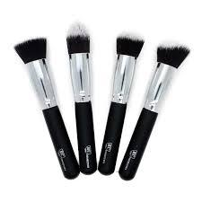 premium 4 piece synthetic kabuki makeup brush set