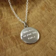 personalised men s silver pebble necklace by hersey silversmiths