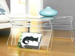 acrylic coffee table modern small lucite decoration items names