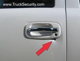 beneath the door handle