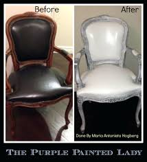 how to paint leather furniture the purple painted lady chalk paint painting leather maria h