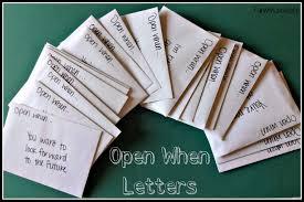 Runwithjackabee Open When Letters