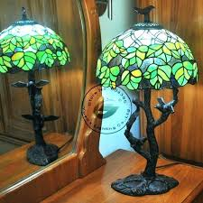 peacock stained glass tiffany table lamp desk brilliant lamps for design beautiful