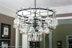 chandelier wine glass pottery barn wine glass chandelier wine glass chandelier kit