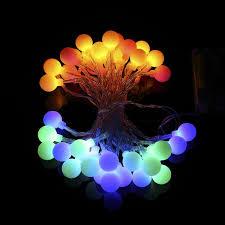progreen outdoor string lights 14 8ft 40 led waterproof ball lights 8 lighting modes battery powered starry fairy string lights for garden tree