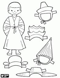 Small Picture Japanese Boy Color Page PD Cloth Dolls Doll Patterns and Paper