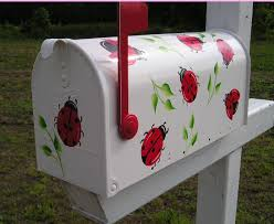 hand painted mailbox designs. Hand Painted Mailboxes | Decorative Custom Paint Mailbox Designs T