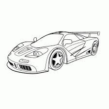 Kleurplaat Raceauto