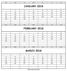 month template 2018 3 month printable calendar 2018 templates bright vitafitguide