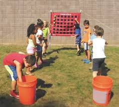 Toss Four Game Variations for PE & Active Play - S&S Blog | Building games  for kids, Field day activities, Team building games