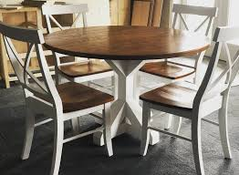 round kitchen table rustic table farmhouse table wood image 0