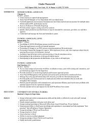 Payroll Associate Resume Samples Velvet Jobs