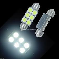<b>2PCS</b> Festoon <b>Car</b> Indoor 36mm <b>C5W</b> SV8,5 6SMD WHITE <b>LED</b> ...