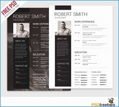 Photoshop Resume Template Free Download Inspirational Simple And