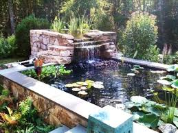 backyard ponds and waterfalls. Exellent Waterfalls Backyard Ponds With Waterfalls Relaxing Garden And Fish Pond  Waterfall Ideas For T