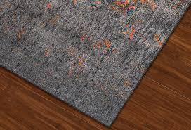 antiquity charcoal art silk polypropylene rug soft luxurious rugs abode company