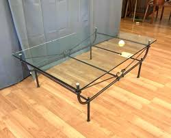 glass and iron coffee table glass top wrought iron coffee table legs ikea glass metal coffee