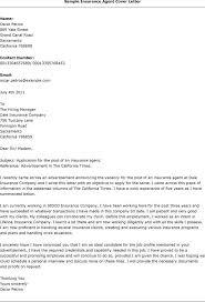 Sample Cover Letter For Insurance Job Agent Resume Companion