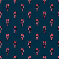 <b>Red Line USB</b> Cable Cord Icon Isolated Seamless Pattern On Black ...