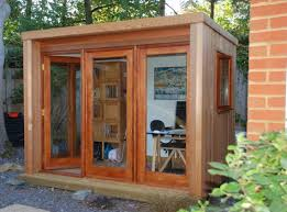building a home office. garden shed home office with glass door outdoor landscaping and building a