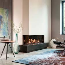 gas fireplace contemporary closed hearth corner kalfire eco line g105 37c