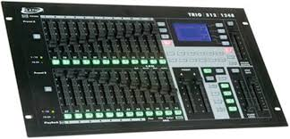 elation trio 1248 512 channel dmx artnet hybrid controller with three in one control of conventional intelligent lights and led s with 24 faders