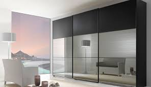 Modern Mirror Sliding Wardrobe Closet Door With Three Hidden Storage Built  In Cabinetry Ideas As Decorate Minimalist Master Bedroom With Space Saving  ...