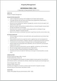 Property Management Resume Template Foodcity Me
