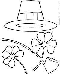 Small Picture St Patricks Day Coloring Pages Irish Hat Pipe and Shamrocks