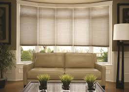 Budget Blinds Bay Windows Pleated Shades