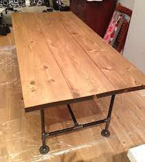 diy pipe wood table pt 2 front