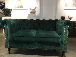 Two Seater Sofa Living Room Dark Green Velvet Turquoise Two Seater Sofa Elegant Office