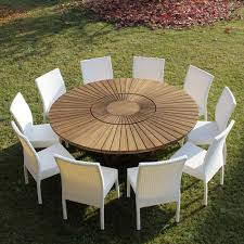round table in teak and solid real table