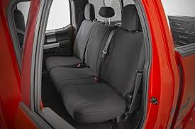 ford neoprene rear seat cover black