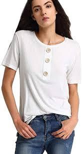 <b>Escalier</b> Women's Casual Tunic Top <b>Short</b> Sleeve Blouse T-Shirt ...